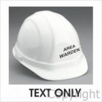 Area Warden 10mm High Text (White)