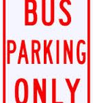 BUS PARKING ONLY