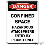 Danger Confined Space Haz.