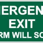 Emergency Exit Alarm Lumi