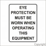EYE PROTECTION MUST- TEXT