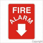 Fire Alarm + Down Arrow