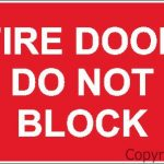 Fire Door – Do Not Block