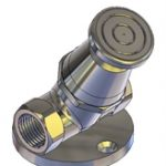 Foot Operated Stop Tap 45 Degree Female & Female 15mm
