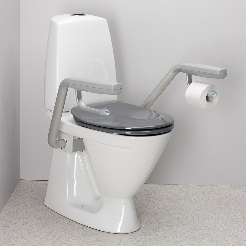 Ifo Toilet S Trap Double Flap Seat With Support Arms