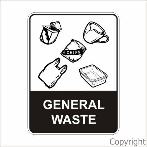 Display Sign Recycled General Waste