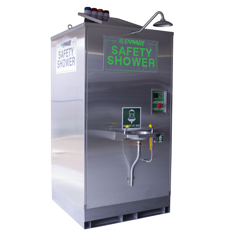 Self Contained Relocatable Emergency Shower With Eye Wash